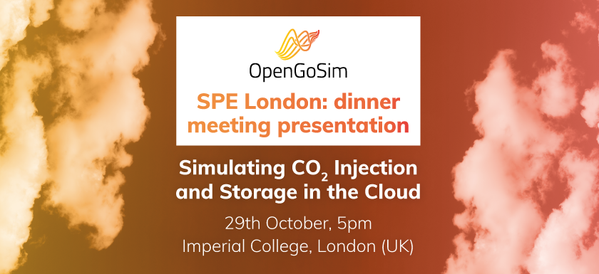 Simulating CO2 Injection and Storage in the Cloud, 29th Oct 2019, 5pm, London